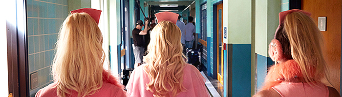 Sur le tournage de Scream Queens